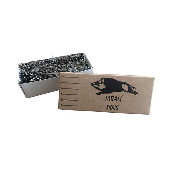caja de alfileres de acero niquelado costura