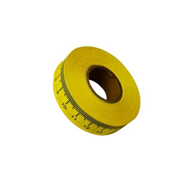 cinta metrica adhesiva amarilla