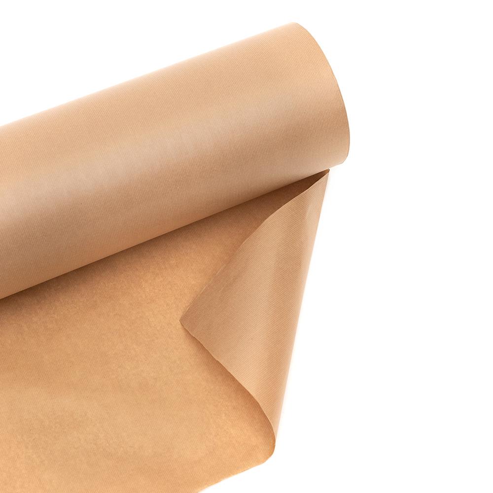 Rollo de papel para embalaje industrial, fabricación de bolsas, proteccion calandra, relleno kraft marron