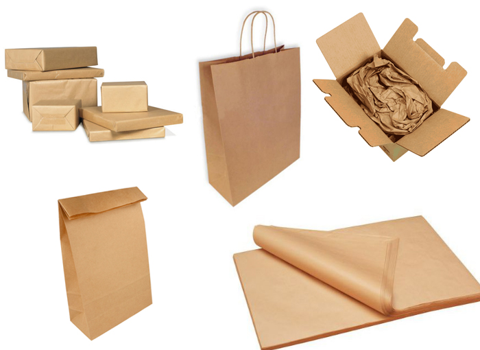 papel kraft marrón para embalaje y fabricación de bolsas, relleno, proteccion calandra, papel industrial kraft marron